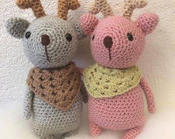 Deer in crochet