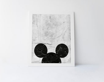 Mouse ears, printable art, mouse print, minimalist print, wall art minimal,modern minimal,minimal printable, instant download art,mouse art