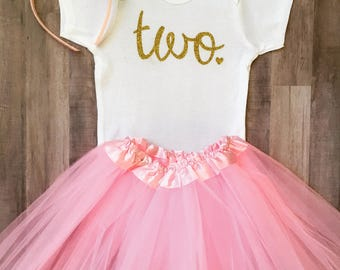 Second Birthday Outfit, 2nd Birthday Outfit Girl,  2nd Birthday Outfit, Two Birthday, Two, Pink and Gold Birthday,