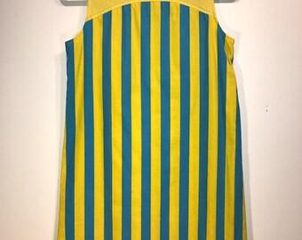 1960's Mod Striped Go-Go Dress