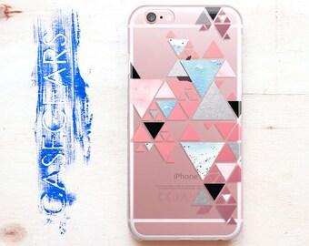 Pink Geometric iPhone 7 Case Geometric iPhone 6 Case iPhone 6s Plus Geometric iPhone Blue Phone Case 6 Phone iPhone 5C SE Geometric CGCP0110