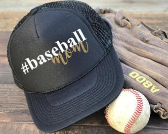 Baeball Mom Hat, Baseball Trucker Hat, Baseball Mom Snapback