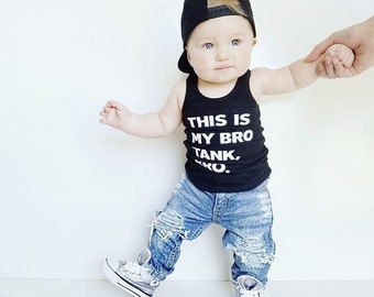 Infant Tank, Toddler Tank - This is my bro tank, bro