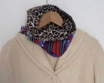 Reversible Snood, wax and faux fur