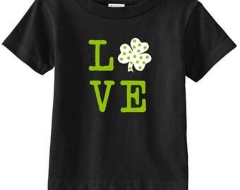 LOVE Shamrock Shirt // St Patrick's Day / Irish Toddler / Kid Shirt