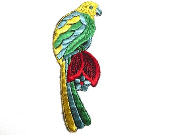 Bird Applique 1930s Vintage Embroidered Bird  applique / application / patch. Vintage patch, sewing supply, antique applique.  #5E8G19AK5E