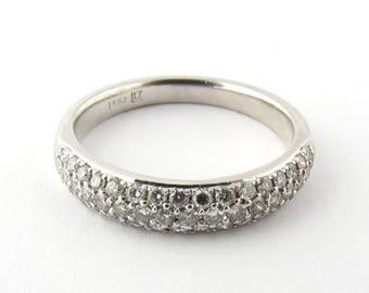 Vintage 14K White Gold Diamond Band Size 6.5 #511