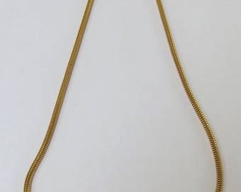 1977 Givenchy Paris Signed Gold Tone and Crystal Snake Chain Choker Necklace