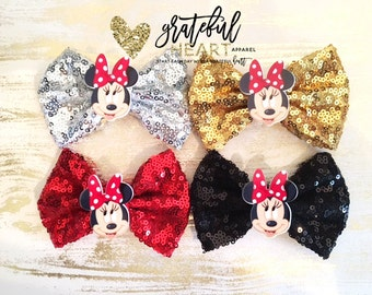 Minnie Mouse bow, Minnie Mouse clip, Minnie Mouse hair clip, Minnie Mouse, Minnie Mouse birthday, Minnie Mouse party, Minnie Mouse bow