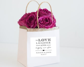 Hotel Wedding Welcome Bags labels - Personalized Wedding Favor Bag Labels