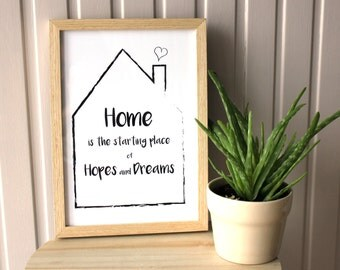 Home printable, housewarming gift, home wall art, home sweet home, Printable art, Digital Download Print, Home Quote, Home Decor, Wall Art