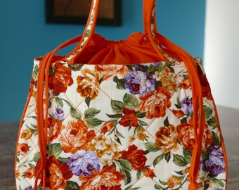 drawstring cotton handbag