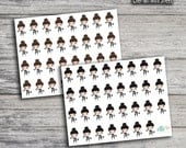 Workout Gym Girl Icon Stickers (Glossy & Matte)