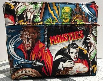 Vintage Monsters Toiletry Bag