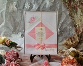 Vintage Letter Paper Waverley Pink Floral Flowers Roses Design 18 Sheets & Envelopes Shabby Cottage Chic Romantic Unused Original Box
