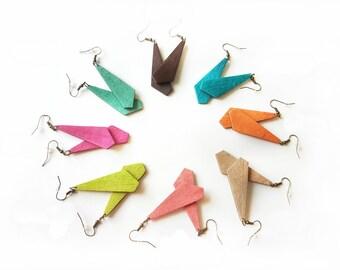 Geometric dangle earrings, Multiple earrings, Set of earrings, Buy more pay less, Brown, Turquoise, Orange, Beige, Coral, Green, Pink, Lime