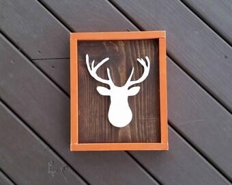 Nursery Deer Head Sign, Nursery Decor, Nursery Wall Decor, Nursery, Rustic Nursery Decor, Wood Signs, Signs, Personalized Nursery Signs