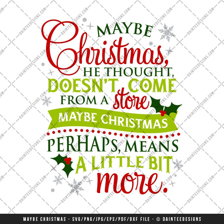 Maybe Christmas Svg Vector Dxf Eps Digital Cut File Cutting