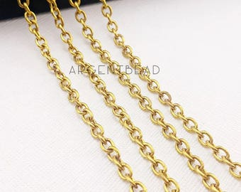 1metre 5mm Belcher chain Rolo chain, long round chain,strong chain for pendant. jewelry making AGBN4