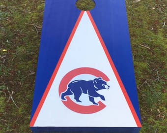 Painted Cornhole Boards   Chicago Cubs