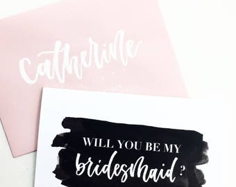 Will You Be My Bridesmaid / Bridesmaid Card / Bridesmaid Proposal / Wedding Card / Wedding Party / Bridesmaid