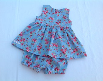 Baby girl dress, floral dress, baby girl outfit, baby gift, baby bloomers, baby pants, baby diaper cover, baby clothing, girls clothing,