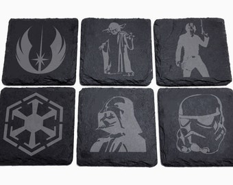 Feel the Force Engraved Slate Coaster set