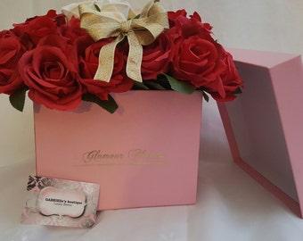Silk flowers box