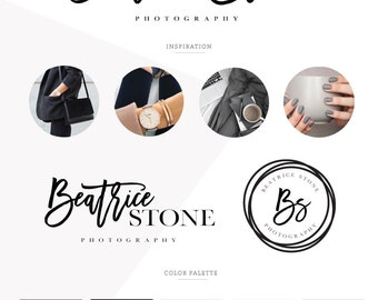 Logo design/ business logo/ photography logo/ branding package/ custom design/ watercolor logo/ watermark logo/ premade logo/ graphic design