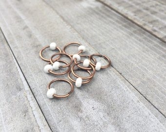Boho wedding hair jewelry wedding braid accessories copper white pearl hair rings unique bridesmaid gifts for friend hipster wedding jewelry