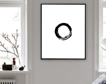 Abstract Wall Decor, Wall Art, Minimalist Poster, Minimalist Art, Printable Poster, Printable Wall Art, Brush Poster, Black and White, Gifts