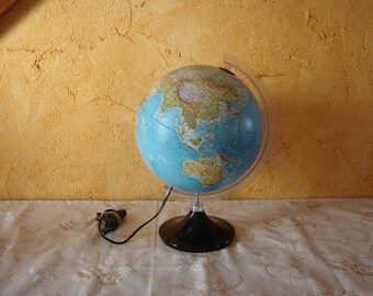 Globe Tecnodidattica . Earth map. Globe terrestre. Vintage. Mappemonde  Italie