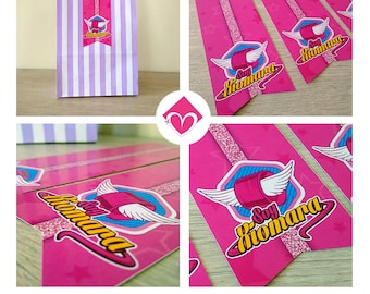 Soy Luna Gift Bag Tag | DIY | Birthday Soy Luna | Candy Bags | Decorate Yourself | Soy Luna Decoration | Printable Party Sweet
