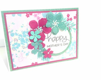 Happy Mother's Day Card, Mothers Day Card, Handmade Mothers Day Card, Card for Mom