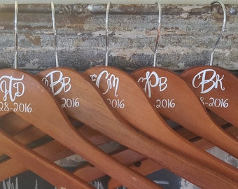 Personalized Wooden Hangers For Adults & Children. Monogrammed Hangers. Weddings. Bridesmaid Keepsake. Personalized Gift. Housewarming Gift.