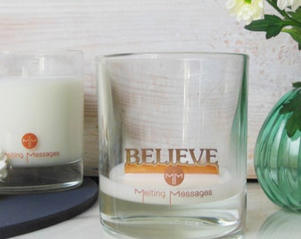 Believe Hidden Message Scented Candle
