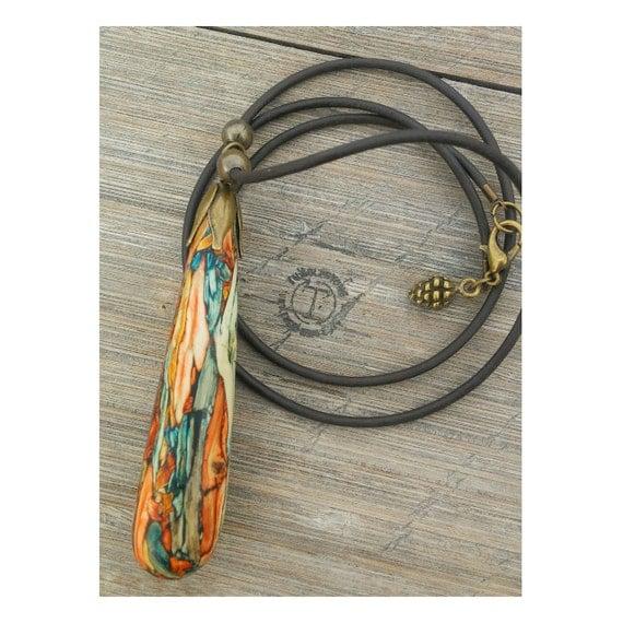 Elegant Tear Tumbleweed Necklace