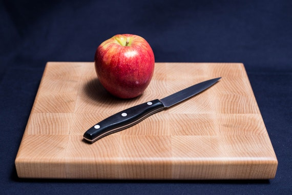 Solid Maple Butcher Block Cutting Board - Small