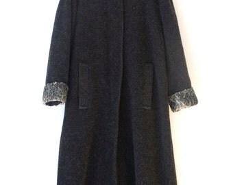 Lambswool coat | Etsy
