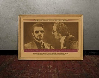 Al Pacino, CARLITO'S WAY, Monochrome retro classic movie poster