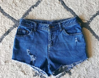 High Waisted Petite Cutoffs