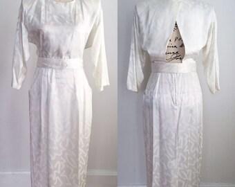 Vintage Dress, 1980s Dress, Vintage Cutout Dress, Vintage Pencil Dress, Vintage Wedding Dress, Vintage Formal Dress, Vintage Spring Dress