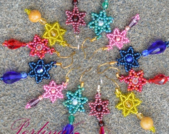 Beading Tutorial - Star Earrings