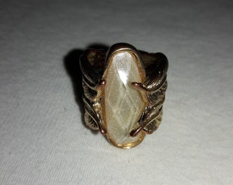 Hinged Gold Plated Vintage Ring