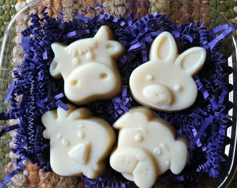 Soap for Kids, Honey Oatmeal Kid's Soaps, Kids Soap, Honey Oatmeal Soap, Farm Soap, Farm Animal Soaps, All Natural Kids Soap, Animal Soap