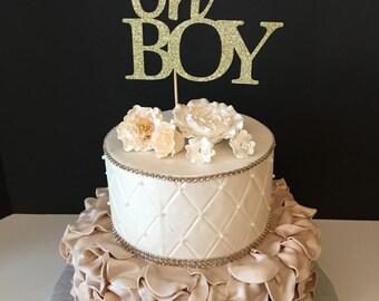 Oh Boy Cake Topper, baby boy cake topper, baby boy shower cake topper, oh baby cake topper