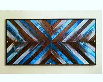 Wood Wall Art ~ Beach Decor ~ Reclaimed Wood Wall Art ~ Coastal Wood Art ~ Beach Wood Art ~ Coastal Wall Art ~ Wooden Wall Art ~ Geometric