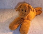 Hand Knitted Handmade Dog Floppy Knitted Dog Stuffed Toy Knitted toy Hand knitted dog toy