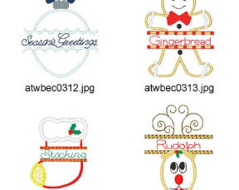 Christmas-Split-Applique ( 12 Machine Embroidery Designs from ATW ) XYZ17E
