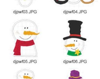 Snowman-Applique ( 10 Machine Embroidery Designs from ATW ) XYZ17E